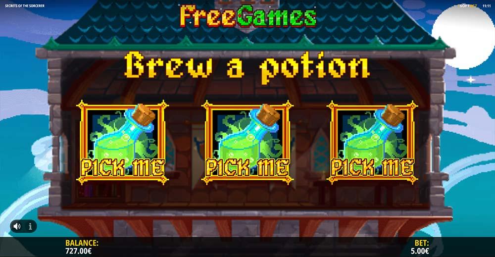 Secrets of the Sorcerer Slot - Picking Round
