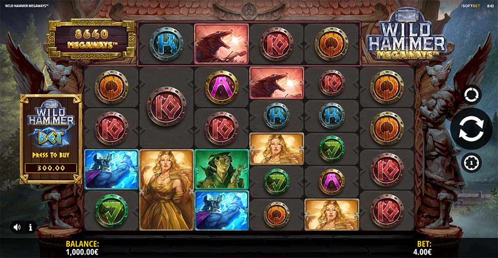 Wild Hammer Megaways Slot - Base Game