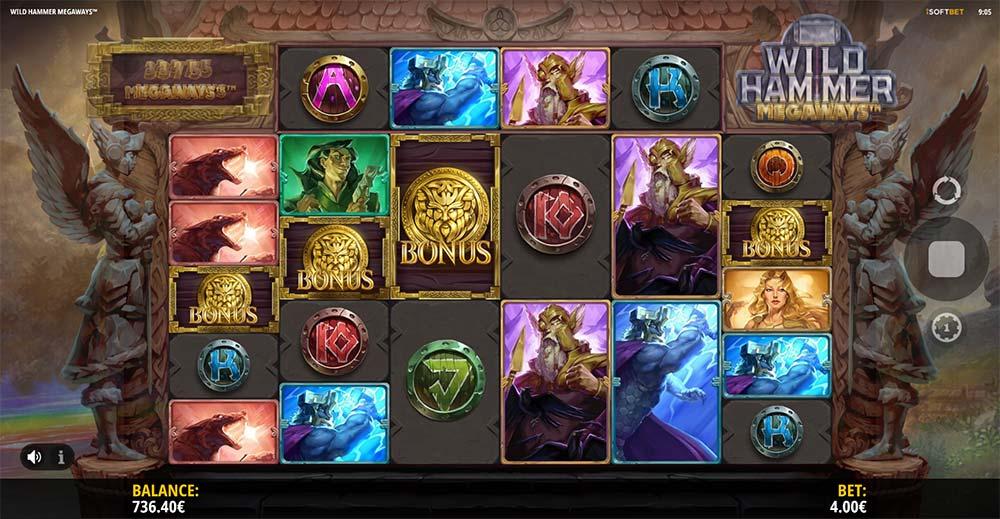 Wild Hammer Megaways Slot - Bonus Trigger
