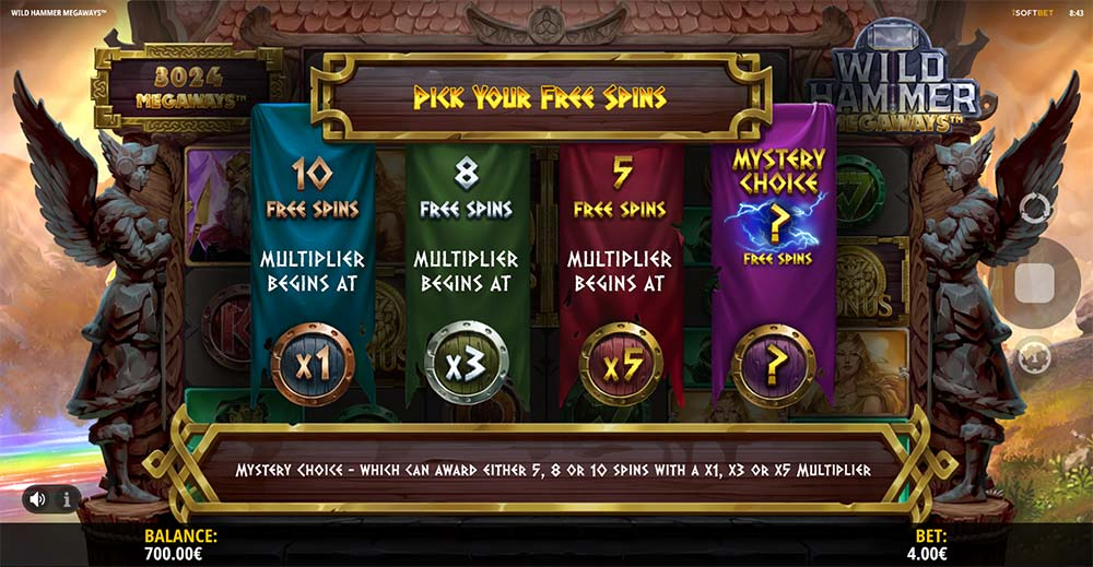 Wild Hammer Megaways Slot - Free Spins Options