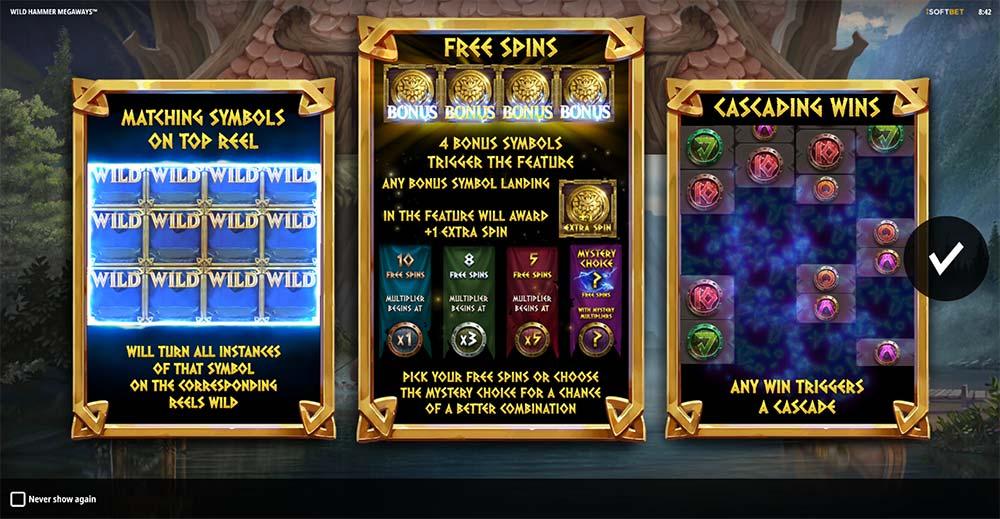 Wild Hammer Megaways Slot - Intro Screen