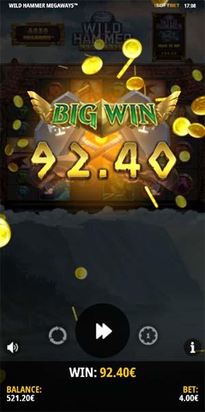 Wild Hammer Megaways Mobile Slot- Big Win