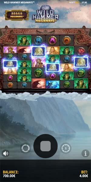 Wild Hammer Megaways Mobile Slot- Bonus Trigger