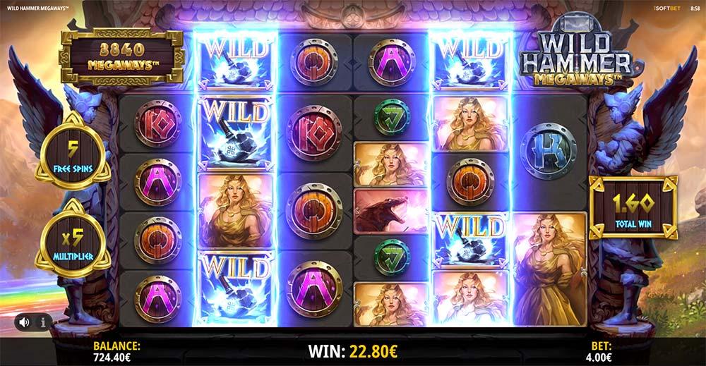 Wild Hammer Megaways Slot- Wild Hammer Match Feature