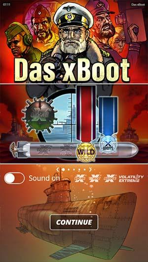 Das xBoot Mobile Slot - Loading Screen