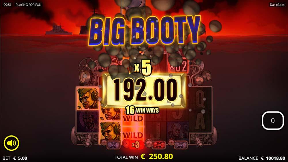 Das xBoot Slot - Big Win Animation