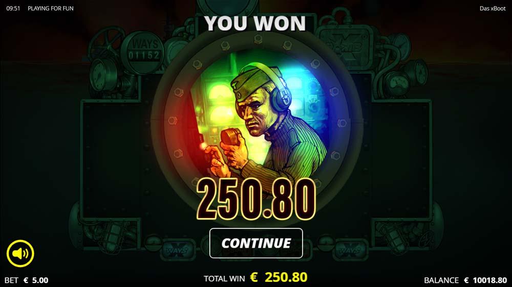 Das xBoot Slot - Bonus Round End