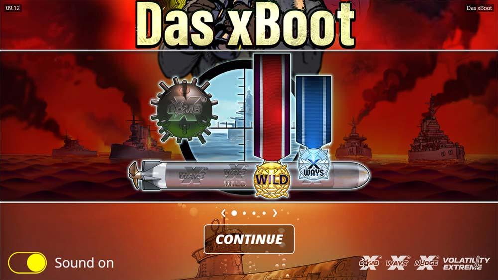 Das xBoot Slot - Intro Screen