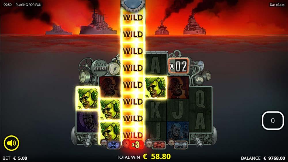 Das xBoot Slot - Free Spins Wild Nudge Reel