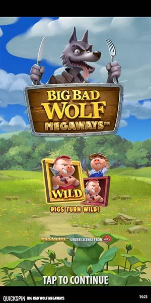 Big Bad Wolf Megaways Mobile Slot - Intro Screen