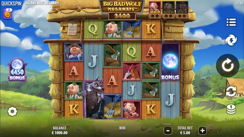 Big Bad Wolf Megaways Slot - Base Game