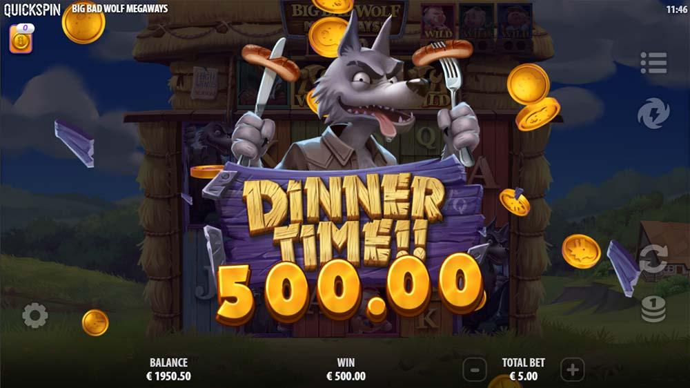 Big Bad Wolf Megaways Slot - Mega Win Animation