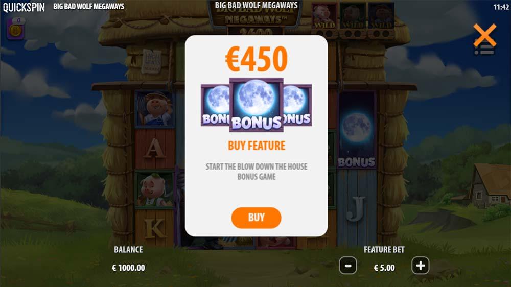 Big Bad Wolf Megaways Slot - Bonus Buy Option