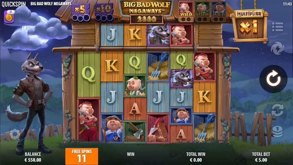 Big Bad Wolf Megaways Slot - Bonus Round Start