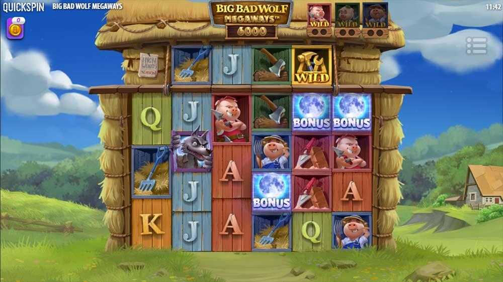 Big Bad Wolf Megaways Slot - Bonus Trigger