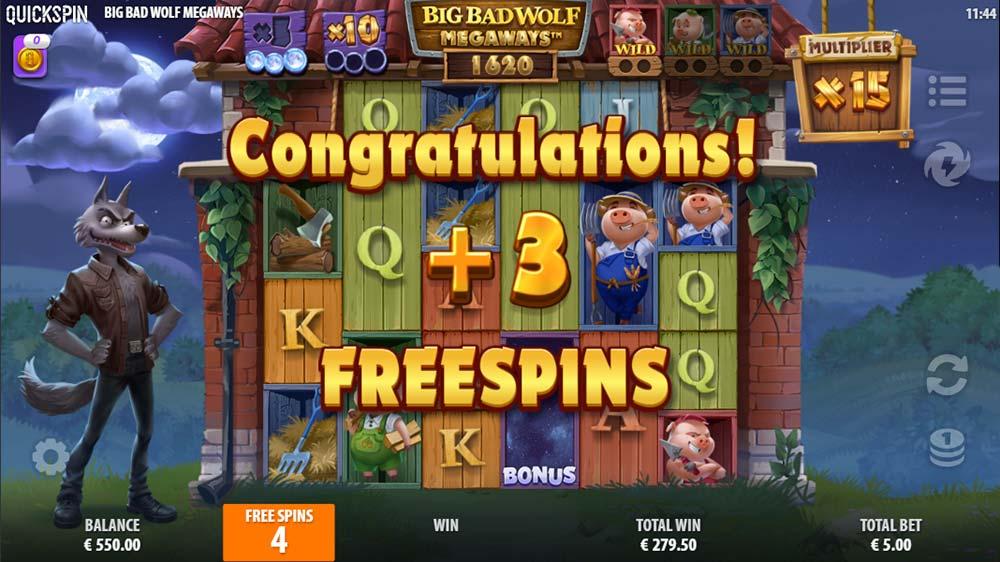 Big Bad Wolf Megaways Slot - Extra Spins Awarded