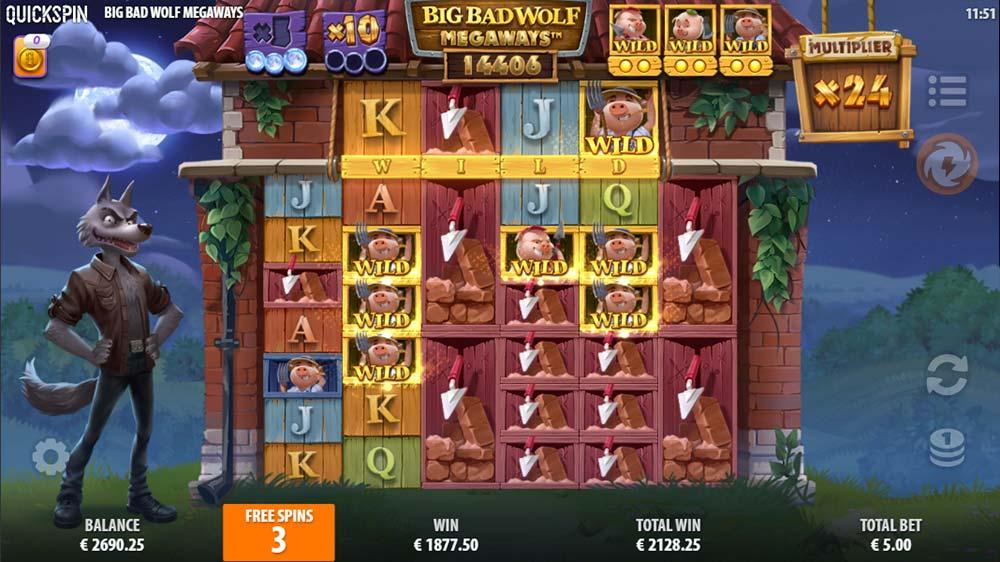 Big Bad Wolf Megaways Slot - Free Spins Huge Win