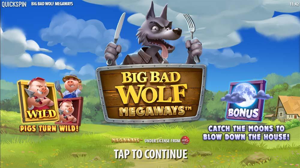 Big Bad Wolf Megaways Slot - Intro Screen