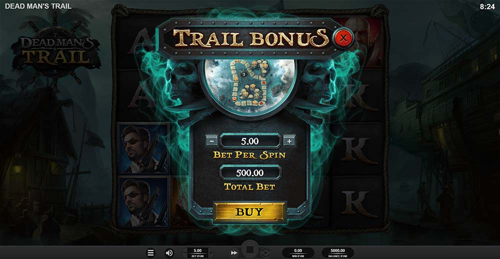 Dead Man's Trail Slot - Bonus Buy Screen