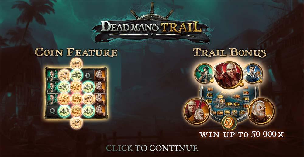 Dead Man's Trail Slot - Intro Screen