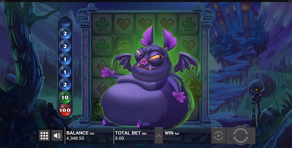 Fat Drac Slot - Fat Bat Feature Triggered