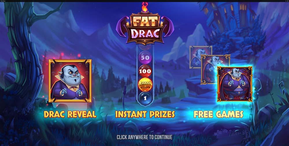 Fat Drac Slot - Intro Screen