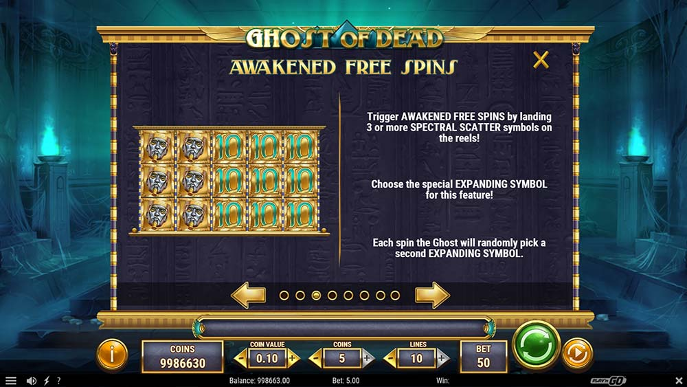 Ghost of Dead Slot - Awakened Free Spins Information