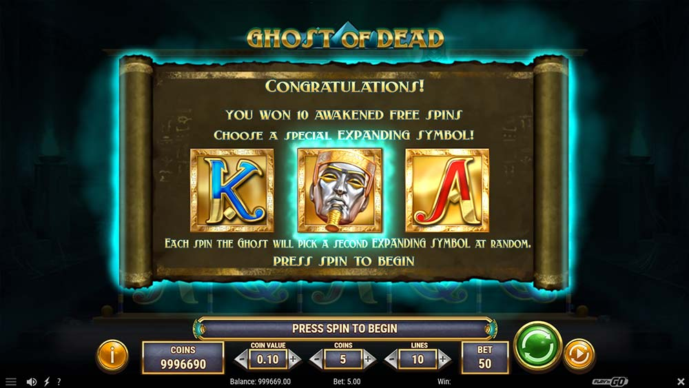 Ghost of Dead Slot - Awakened Free Spins Symbol Selection