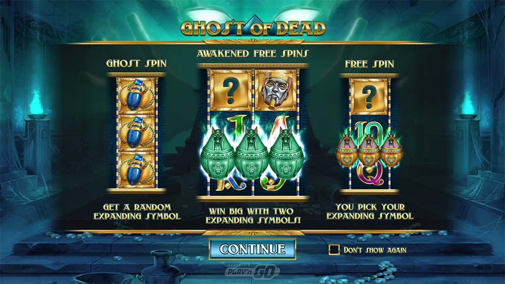 Ghost of Dead Slot symboly