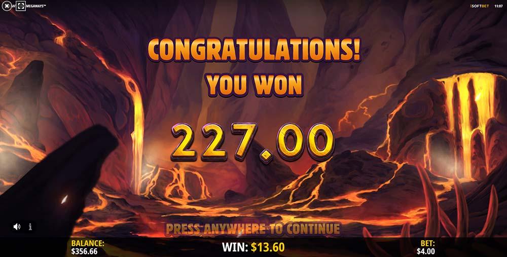 Tyrant King Megaways Slot - Bonus End