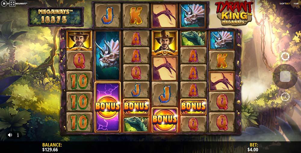 Tyrant King Megaways Slot - Bonus Triggered