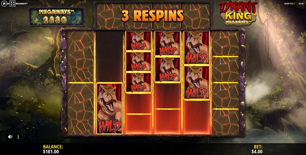 Tyrant King Megaways Slot - Wild Tyrant Respins
