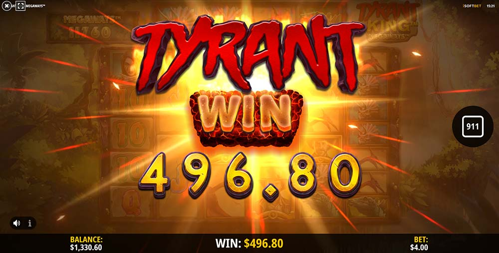 Tyrant King Megaways Slot - Tyrant Win Animation