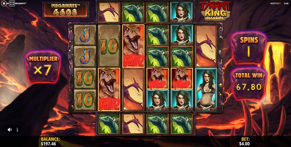 Tyrant King Megaways Slot - Tyrant Wild Respins Triggered