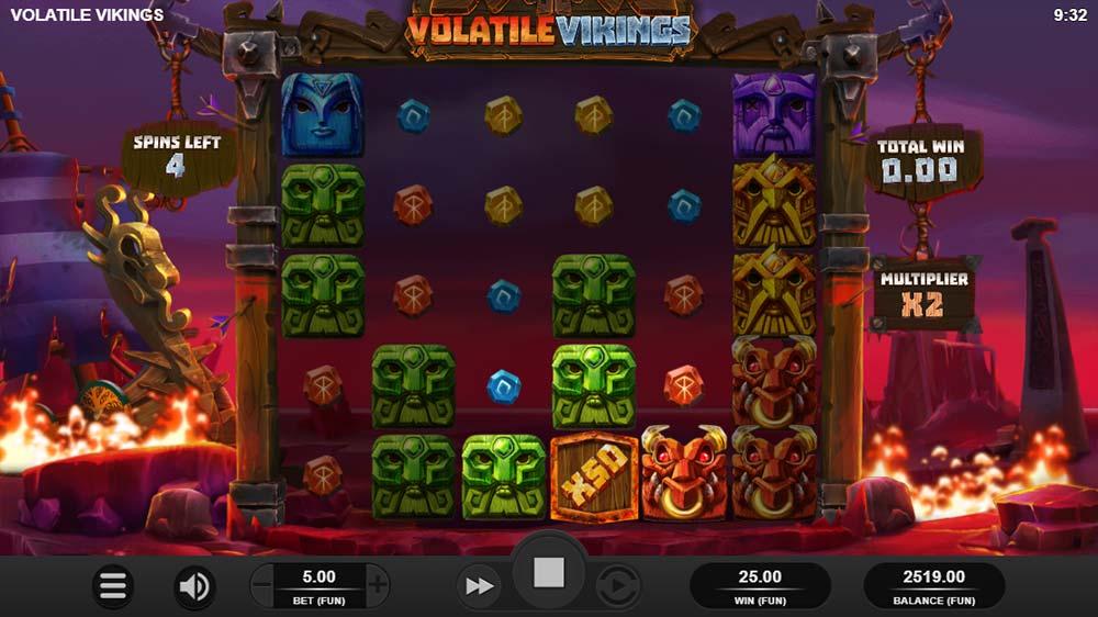 Volatile Vikings Slot - 50x Multiplier Added