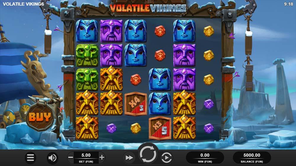 Volatile Vikings Slot - Base game