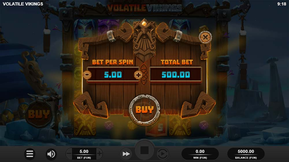 Volatile Vikings Slot - Bonus Buy Option
