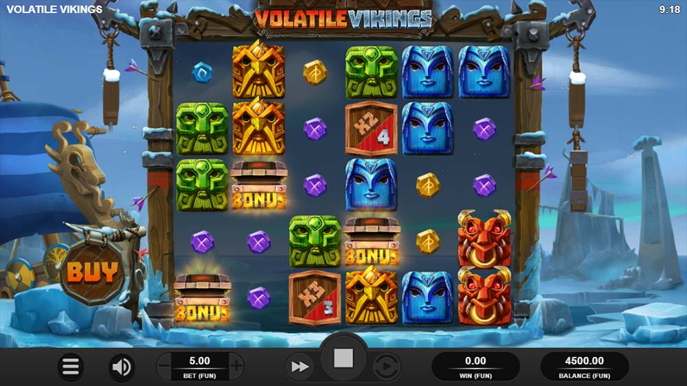 Volatile Vikings Slot - Bonus Triggered