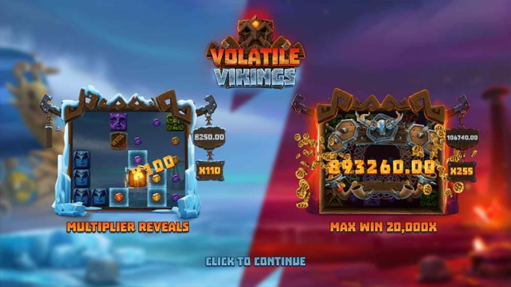 Volatile Vikings Slot - Intro Screen