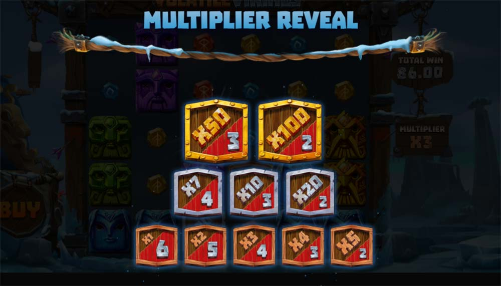 Volatile Vikings Slot - Multipliers on offer