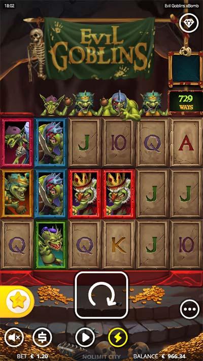 Evil Goblins Mobile Slot - Base Game