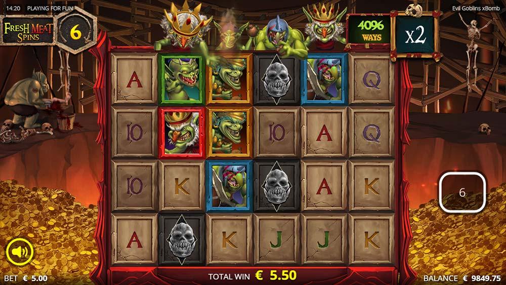 Evil Goblins Slot - 3 Dead Wilds Landed