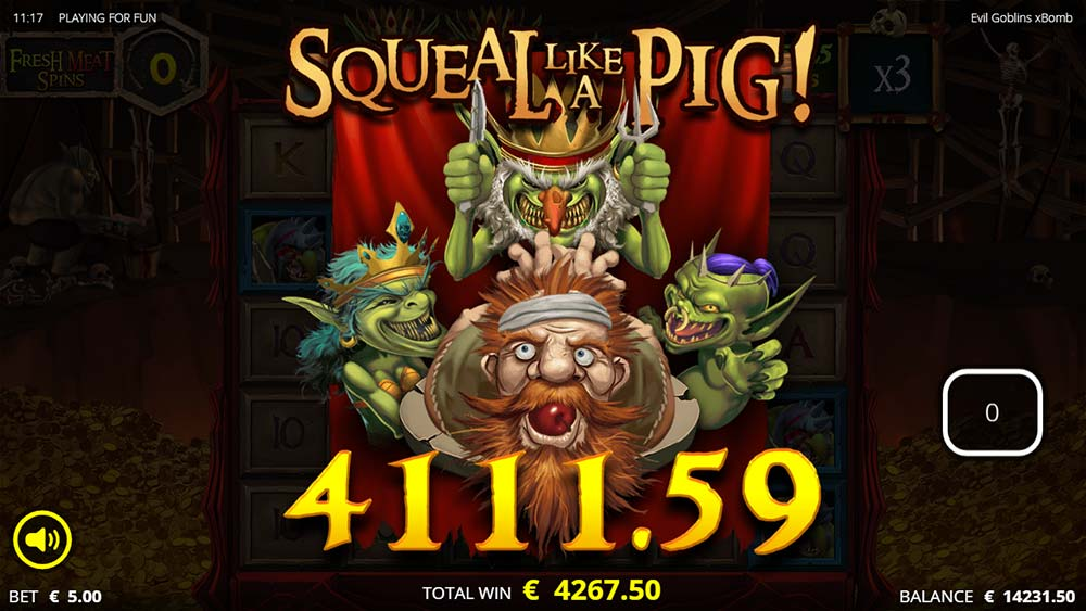Evil Goblins Slot - Huge WIn Animation