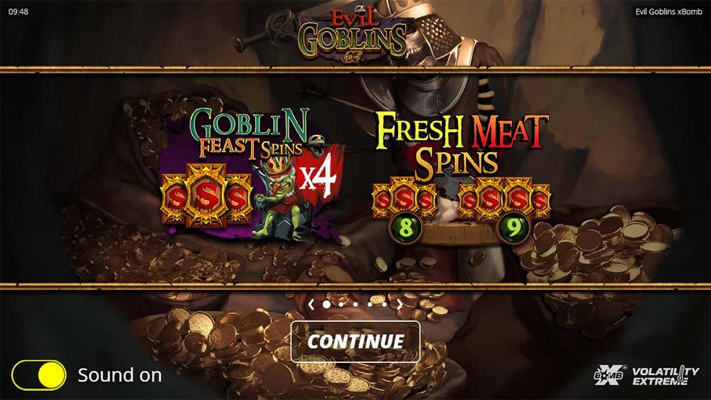 Evil Goblins Slot - Intro Screen