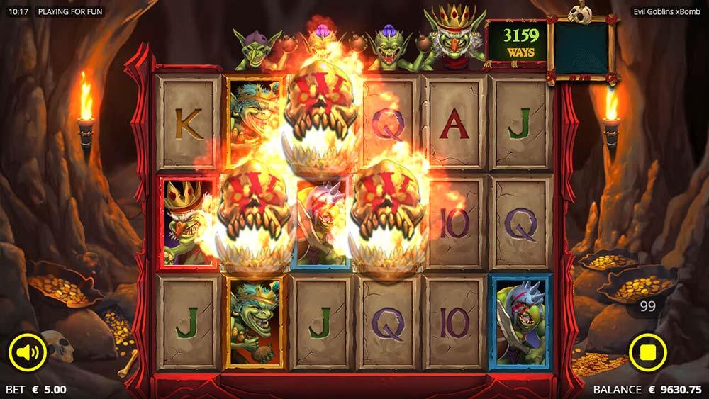Evil Goblins Slot - Resurrected Wilds Triggered