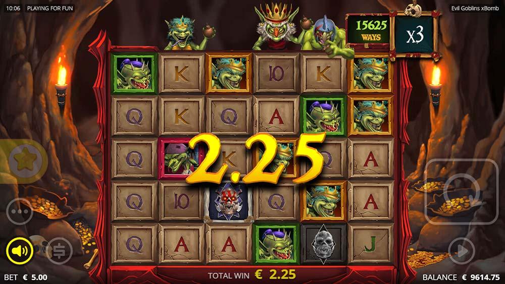 Evil Goblins Slot - xBomb Base Game Expanded ways