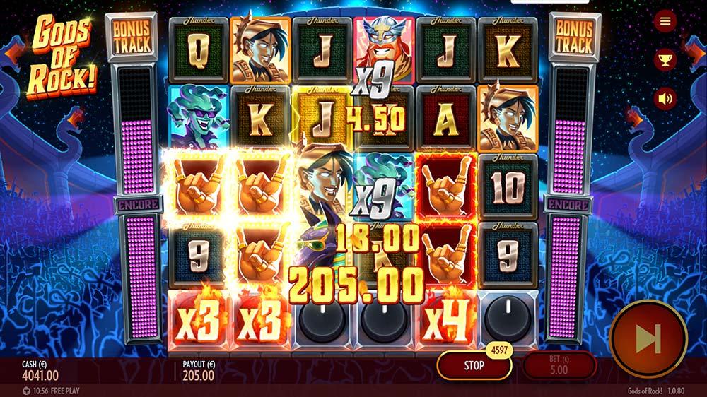 Gods of Rock Slot - Base Game Big Win