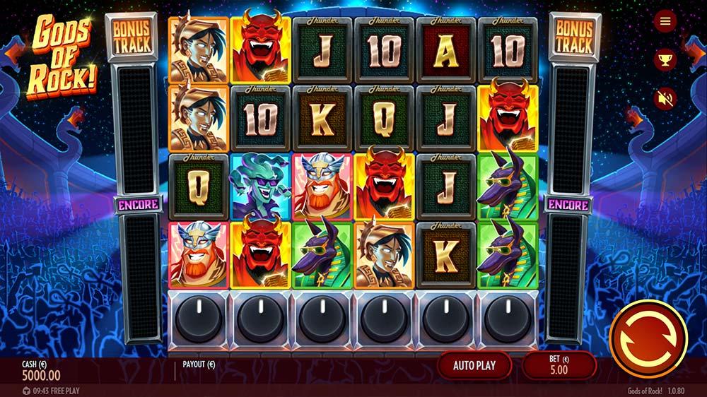 Gods of Rock Slot - Base Game