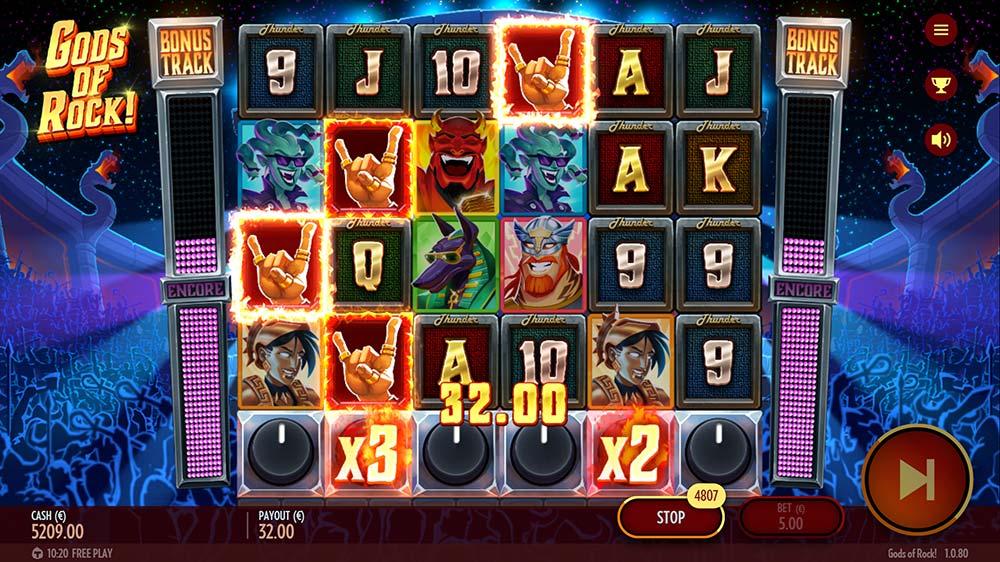 Gods of Rock Slot - Wild Encore Added Wilds