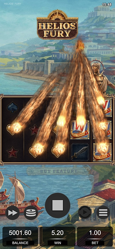 Helios Fury Mobile Slot - Added Wilds
